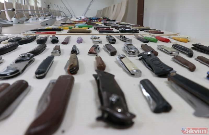Diyarbakır Adliyesi'nde yakalanan ilginç aletler