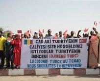 Erdoğan'ı Türk kökenli Abeşeler karşıladı