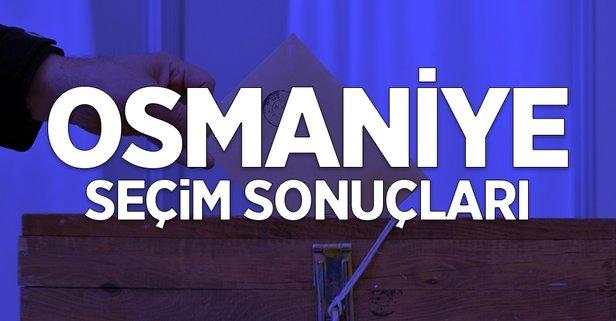 31 Mart Osmaniye yerel seçim sonuçları