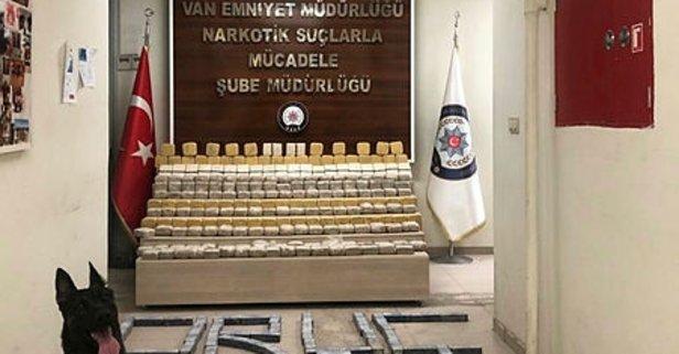 Van'da 282 kilo 630 gram eroin ele geçirildi
