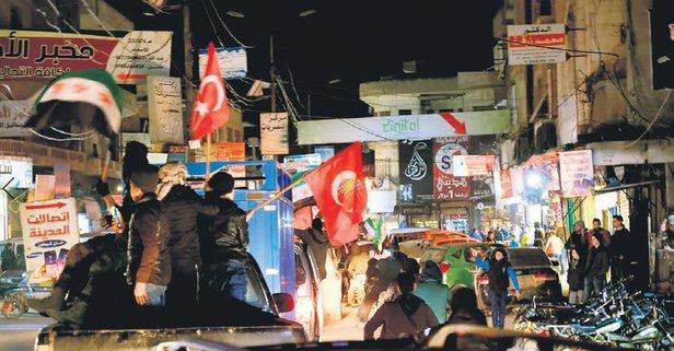 İdlib'de Türk bayrağı