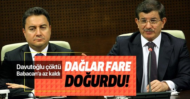 Davutoğlu çöktü Babacan'a az kaldı!