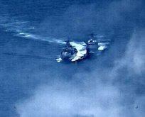 Şok! ABD ve Rus savaş gemileri birbirine girdi