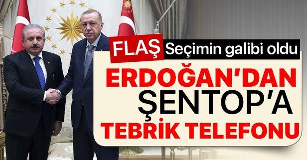 Başkan Erdoğan'dan Şentop'a tebrik telefonu
