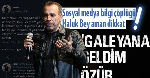 Tecavüze uğradığını söyleyen Ecem Güçlük yalanı ayyuka çıkınca Haluk Levent özür diledi 'galeyana geldim!' Türkiye'yi kandırdı - Takvim