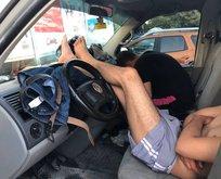 Otellerde yer bulamadılar araçlarda ve yerlerde uyudular