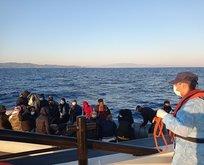 Yunanistan'ın ittiği 131 düzensiz göçmen kurtarıldı
