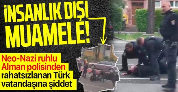 Almanya'da rahatsızlanan Türk'e polis şiddeti!
