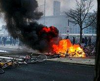 Hollanda sokakları yangın yeri!