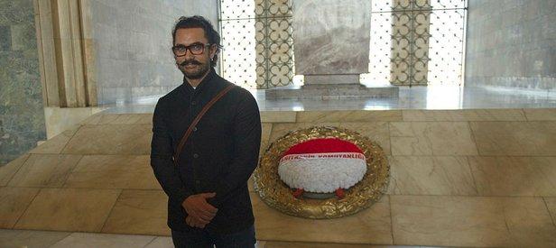 Aamir Khan, Anıtkabir'i ziyaret etti