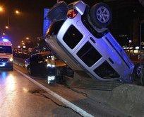 D-100 Karayolu'nda kaza! Trafik felç oldu...