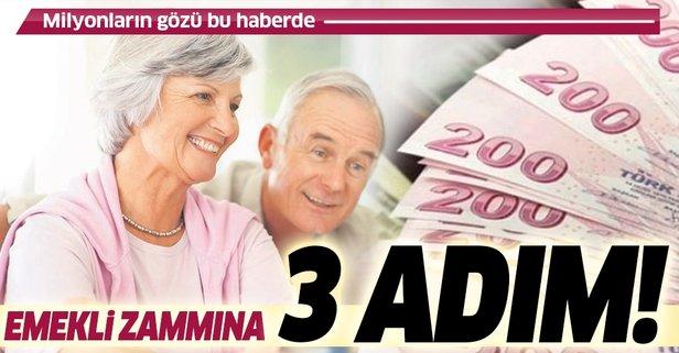 Emekli maaşı ek ödeme ve zam detayları son dakika! İşte zam oranları
