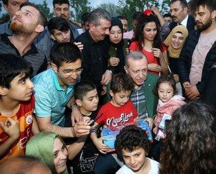 Cumhurbaşkanı Erdoğandan iftarı bekleyen vatandaşlarla sürpriz