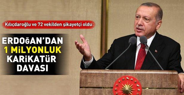 Erdoğan'dan karikatür davası!