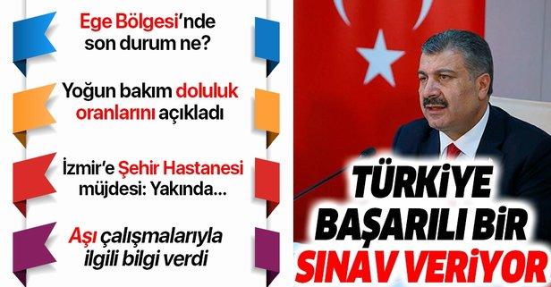 Bakan Koca'dan İzmir'de önemli açıklamalar
