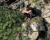 Kuralları ihlal edip kaçan kişi kayalıklarda mahsur kaldı