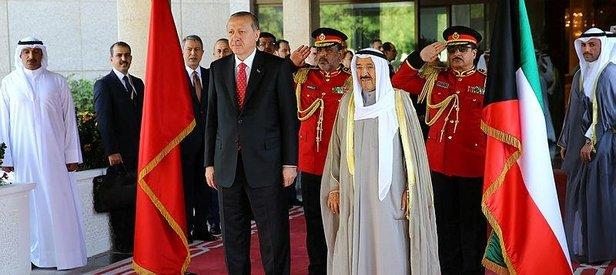 Cumhurbaşkanı Erdoğan Kuveytte böyle karşılandı
