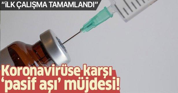 Kızılay'dan koronavirüse karşı pasif aşı müjdesi