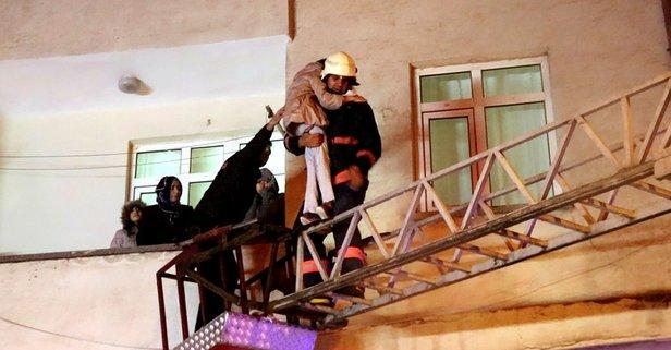 Elazığ'da yangın, 6 kişi hastaneye kaldırıldı