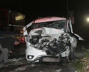 Avcılar'da feci kaza: 12 yaralı!