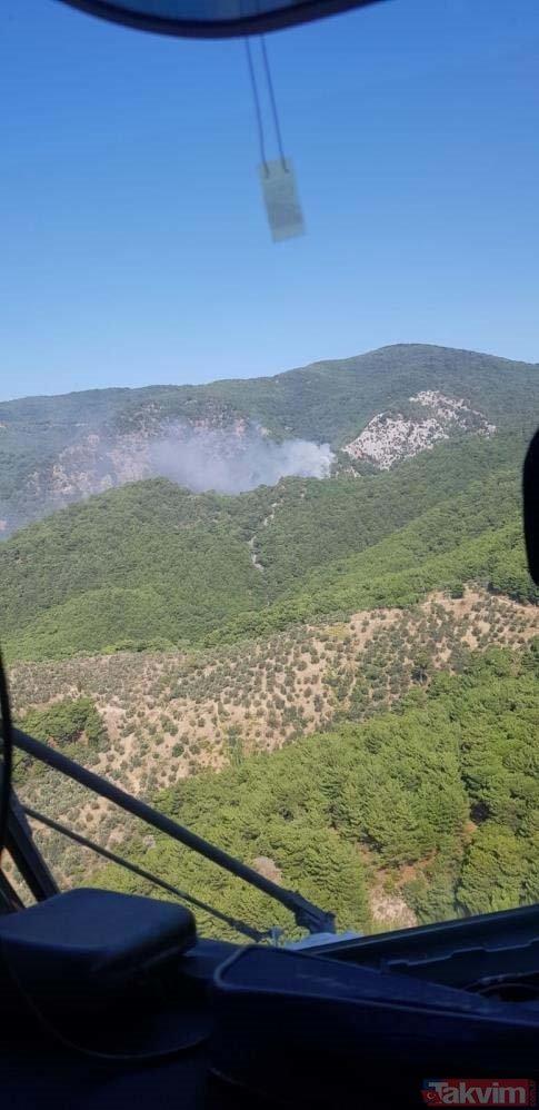 SON DAKİKA: Kazdağları'nda orman yangını! Havadan ve karadan müdahale başladı