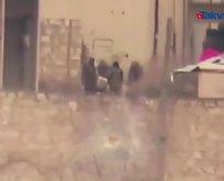 Esad askerleri böyle havaya uçtu