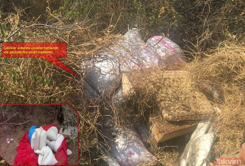 Diyarbakırda PKKya büyük darbe! Tonlarca uyuşturucu ele geçirildi