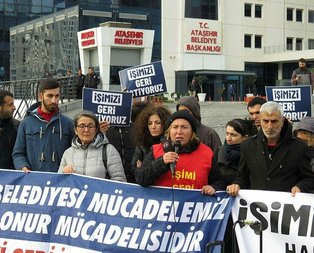 CHP'li belediyede eylem: İşimizi geri istiyoruz