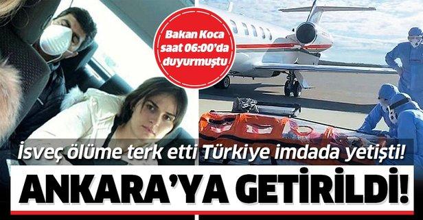Emrullah Gülüşken ambulans uçakla Ankara'ya getirildi
