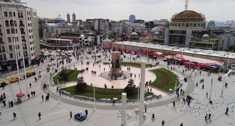 Taksim Camii inşaatı havadan böyle görüntülendi