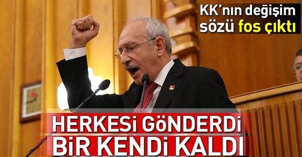 Kılıçdaroğlu'nun CHP'de değişim sözü fos çıktıI