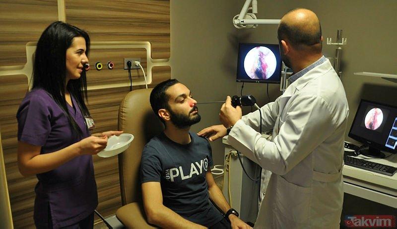 'Nefes alamıyorum' diye doktora gitti! Burnundan öyle bir şey çıktı ki...