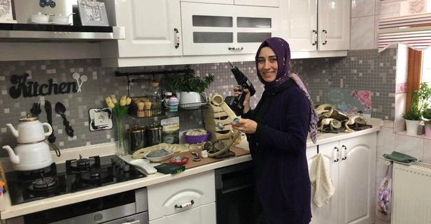 Mutfağını atölye yaptı girişimci bir çok kadına ilham oldu