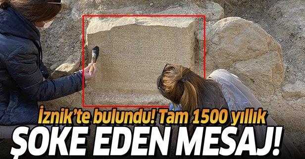 1500 yıllık mezarda şoke eden mesaj