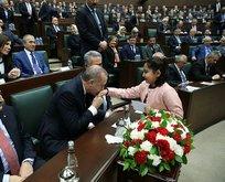 AK Parti Grup Toplantısında renkli görüntüler
