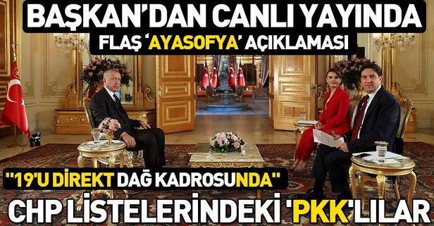 Başkan Erdoğan'dan canlı yayında açıklamalar