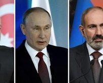 Moskova'da Putin, Aliyev, Paşinyan görüşmesi başladı