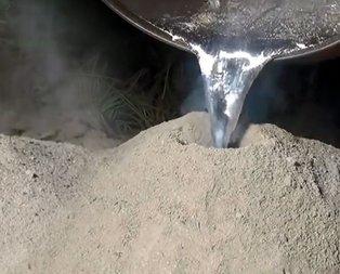 Karınca yuvasına alüminyum döktü! Ortaya çıkan sonuç inanılmaz