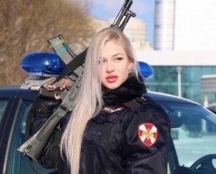 Rusya'nın en güzel kadın polisi sosyal medyayı sallıyor!