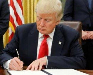 Trumptan kriz çıkartacak hamle: İmzaladı