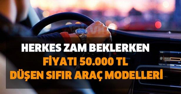 Şaşırttı! Herkes zam beklerken fiyatı 50.000 TL düşen sıfır araç modelleri