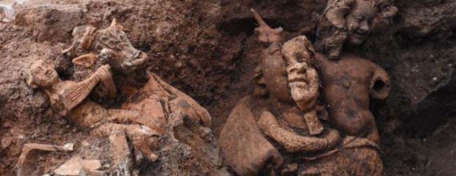 Ordu Kurul Kalesi'nde 2100 yıllık heykeller bulundu