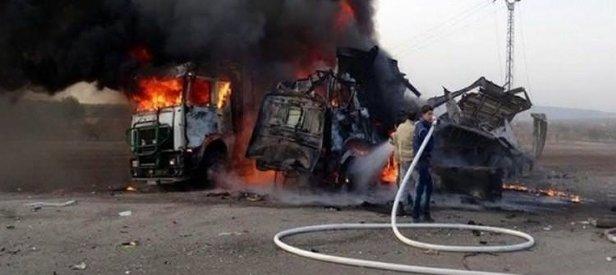 Suriye rejimi, insani yardım kafilesini bombaladı