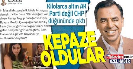 Barış Yarkadaş Mevlüt Çavuşoğlu'na iftira attı! Kilolarca altının takıldığı dudak uçuklatan düğün CHP'nin çıktı