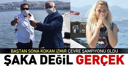 Şaka gibi! Kötü kokusuyla konuşulan İzmir'e çevre şampiyonu ödülü verildi
