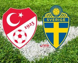 Türkiye İsveç karşısında 3 puan almak istiyor