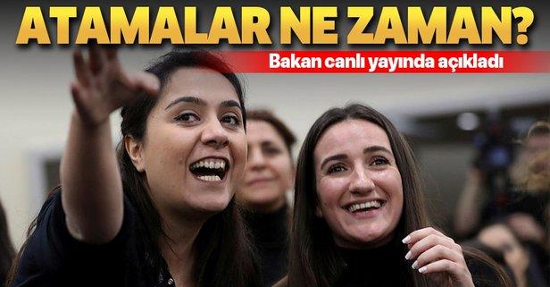 Ziya Selçuk'tan öğretmen ataması açıklaması