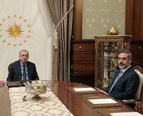 Başkan Erdoğan Hakan Fidan ile görüştü