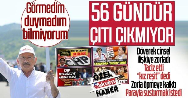 CHP'de üzeri örtülmeye çalışılan taciz ve tecavüz vakaları