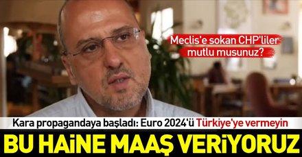 Ahmet Şık, Euro 2024ün Türkiyeye verilmemesi için kara propagandaya başladı
